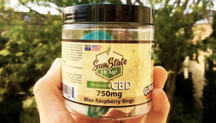 Sun State Hemp CBD blue raspberry Rings
