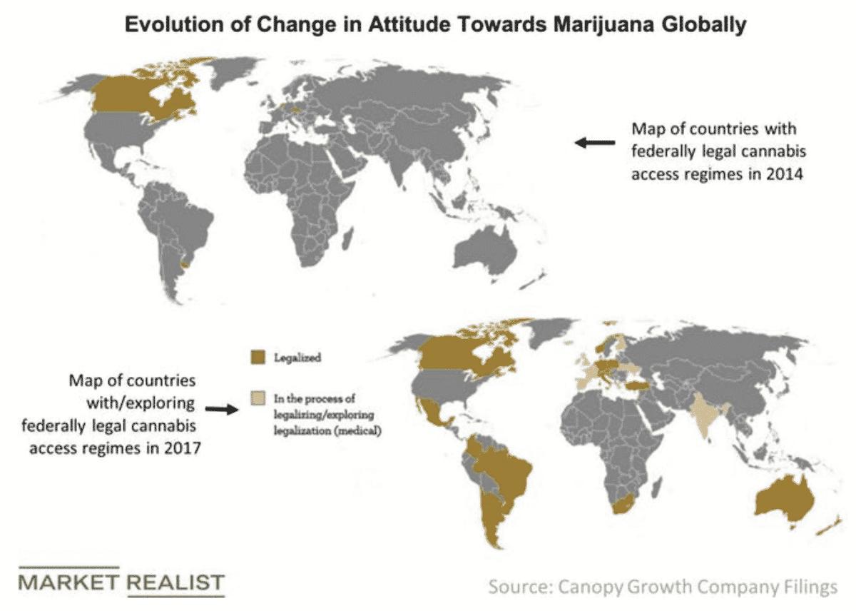 Legalisierte Länder Cannabis